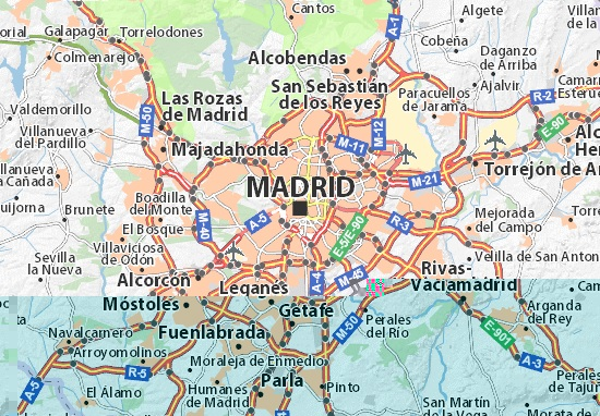 Map Of Madrid Madrid Map   MADRID TRAVEL GUIDE